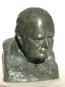 ONC934 - Classic Churchill Bust (Bronze Resin and Verdigris)