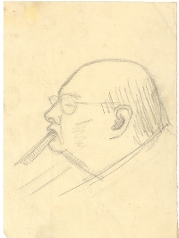 One of Nemon's sketches of Churchill