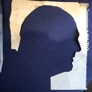 Silhouette of Randolf Churchill by Nemon